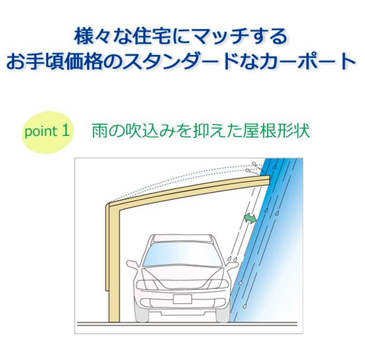 シンプルカーポート2台用ポイント1
