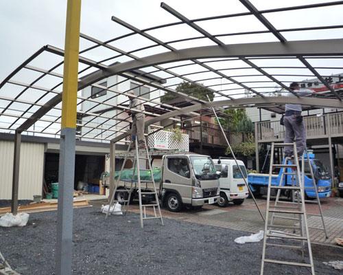 スーパーラブジャンボ7350 展示場施工風景