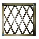 窓用面格子 枠付クロス格子