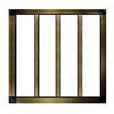 窓用面格子  枠付縦格子
