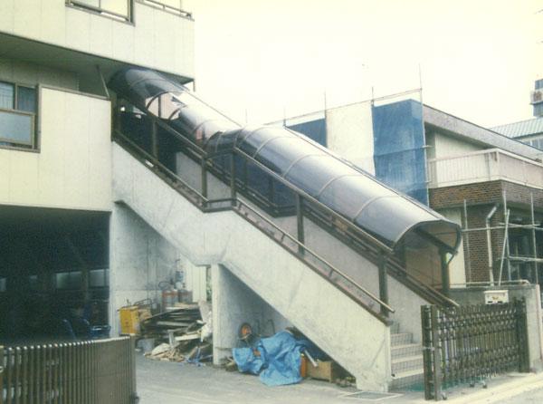 階段屋根取付工事