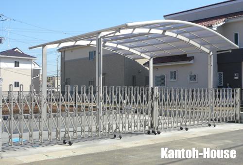 車庫まわり(2台用カーポート・両開きカーゲート)
